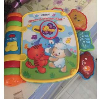 VTech Rhyme and Discover Educational Music Book Unisex Light Up Toddler Toy
