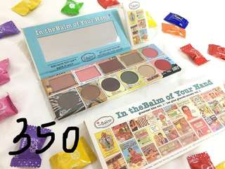 SALE: PHP350 BUY 3 FOR PHP1K (any kind of palette) The Balm In the Balm of your Hands Vol. 1 palette