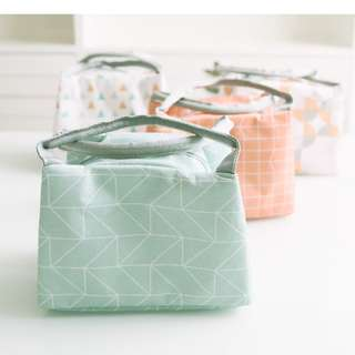 [Pre-order] Pastel Green or Peach Lunch Tote