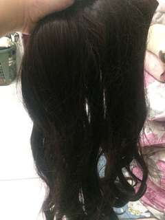 Hairclip medium wave coklat tua