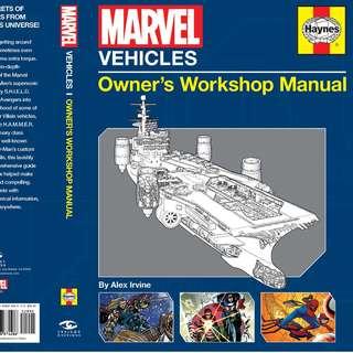 🚚 Marvel Vehicles: Owner's Workshop Manual [Hardcover]