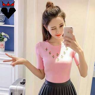Knitted Embroidered Top