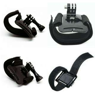 Velcro Wrist Band with Mount for Xiaomi Yi Xiaomi Yi 2 4K and GoPro Hero 3+/ 3 / 2 /1