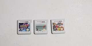 Nintendo 3DS Games Bundle of 3 Carts USA