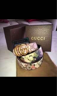 Floral Gucci belt