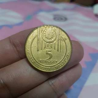 Malaysia rm5 coin special edition for 15th SEA Games