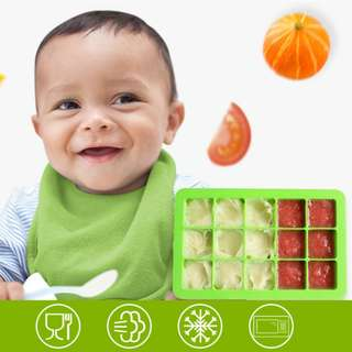Baby Food Tray/Food Grade Silicone/Ice Cube Tray/Food Container/Jelly mould