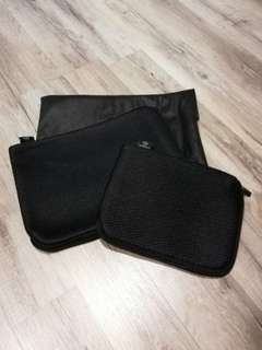 Modern Black Gadgets Bag x2