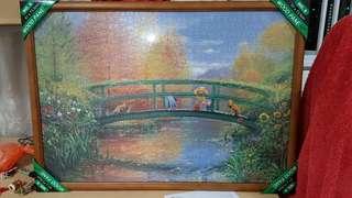 Classic Winnie the Pooh 1000 piece jigsaw framed up