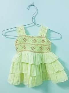 Baby Girl Dress - light yellow