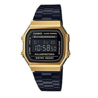 ⌚Casio A168 WEG-1B Unisex's Watch Black Strap