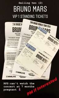 Bruno Mars VIP 1 Standing ticket