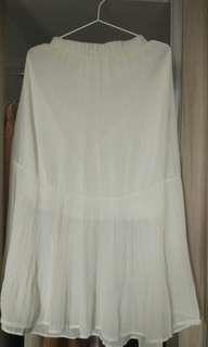 Jrep White Pleated Skirt