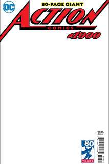 Action comics #1000 blank variant ( Hot 🔥)
