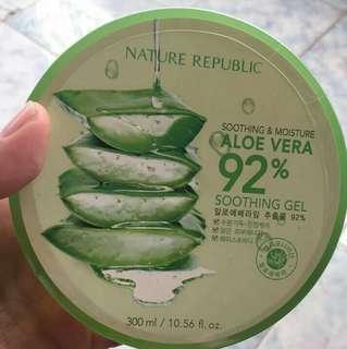 Nature Republic 92% Aloe Vera 100% original (Diskon 10rb jika pembelian 3pc)