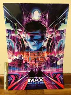 READY PLAYER ONE IMAX POSTER