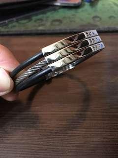 Men's Bracelet black And silver