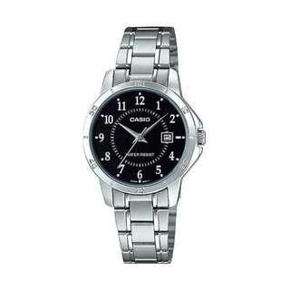 ⌚ Casio LTP-V004D-1B Women's Watch Silver Strap⌚