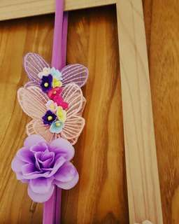 Handmade design garden theme headband