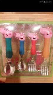佩佩豬不鏽鋼餐具組