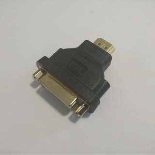 (Restock) Brand New HDMI Male to DVI-D Dual Link Female Adapter