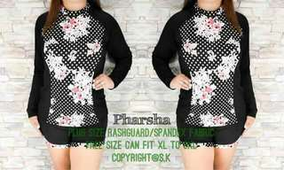 Plus size rash guard terno