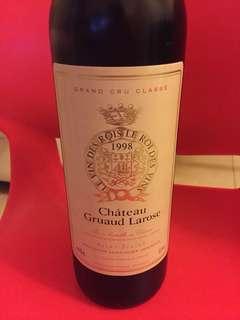 1998年金玫瑰紅酒