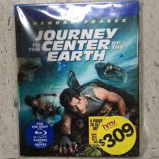 (折扣貨品)地心探險記Journey to the Center of the Earth Blu-ray DVD連眼鏡