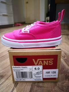 Original Vans Hot Pink Authentic Elastic Shoe