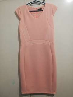 Bodycon Coral Dress