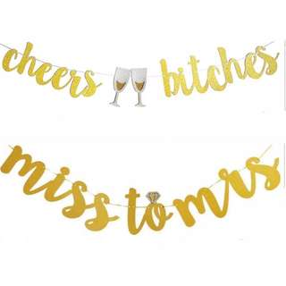 BN: Cheers bitches / miss to mrs golden banner