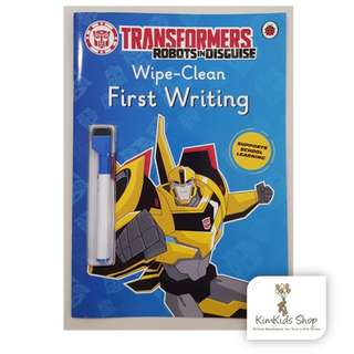 Transformers: Robots in disguise Wipe Clean first writing