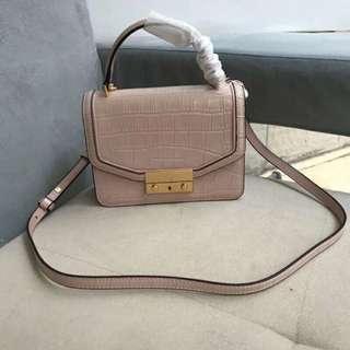 Tory Burch  Leather Juliette Handbag Peach
