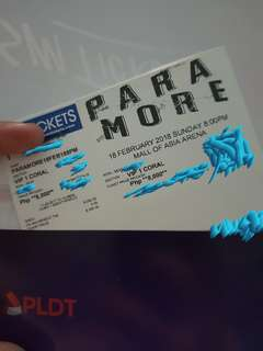 PARAMORE TICKET VIP