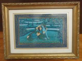 Vintage Indian Silk Painting