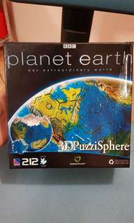 3D Planet Earth Puzzle Sphere