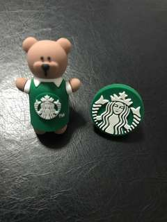 Starbucks straw toppers