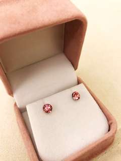 粉紅色閃石耳環 pink earrings