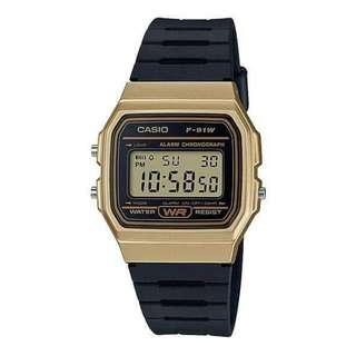 ⌚Casio F-91WM-9A Unisex's Watch Black Strap ⌚