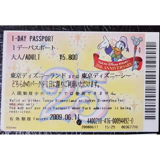 (1A) ONE DAY PASSPORT - TOKYO DISNEY 25 週年, $30 包郵