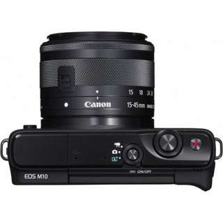 Canon EOS M10 Kit 15-45mm Black Kredit Bisa