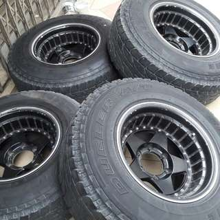 4x4 rim 16x10jj tayar 265/75/16AT
