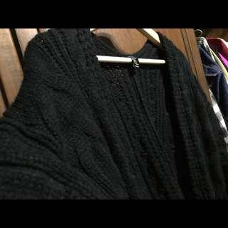 Forever 21 麻花針織開襟罩衫外套