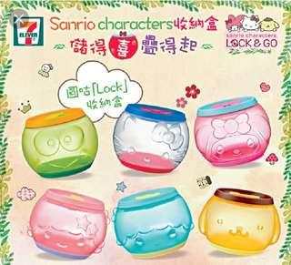 ($2@) 7-11 Sanrio Characters Lock & Go收納盒 正版印花 kitty little twins star my melody
