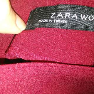 Gaun Maroon /dress Zara