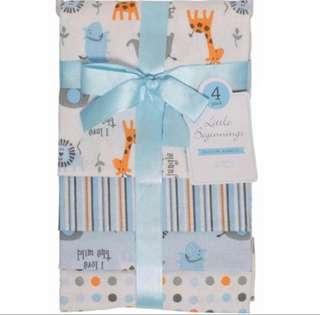 BN Little Beginnings Receiving Blankets For Baby Boy
