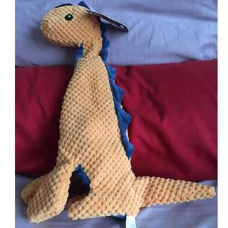 Tall Dino Stuffing-less Dog Toy