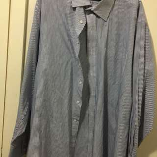 Blue White Stripped Long Sleeve Shirt