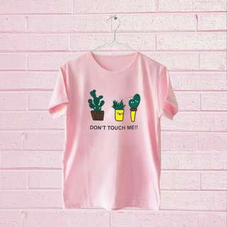 Tumblr tee/T-Shrit/kaos wanita don't Touch me-Pink
