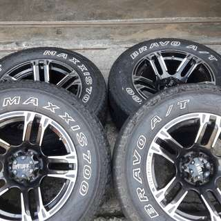 4x4 rim 17x9jj tayar 265/65/17 at